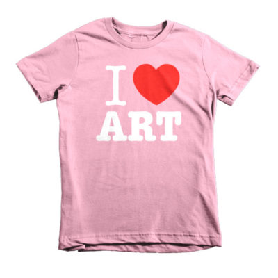 I Love ART Short sleeve kids t-shirt